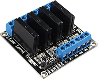 HALJIA 4 canales 5 V Estado Sólido Módulo de relé con resistiva Fusible Compatible con Arduino UNO Duemilanove MEGA2560 ME...