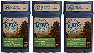 Tom's of Maine 24-Hour Men's Long Lasting Natural Deodorant Multi Pack,..