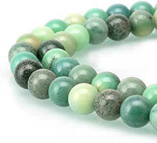 BRCbeads Chrysoprase Agate Gemstone Loose Beads Natural Round 4mm Crystal Energy Stone Healing Power for Jewelry Making
