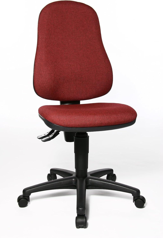 Topstar Point 60, Bürostuhl, Schreibtischstuhl, Stoff, Bordeaux-rot