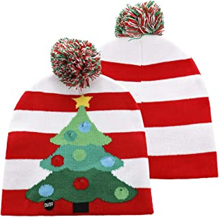 LED Light Up Christmas Beanie Colorful LED Knitted Hat for Children Indoor and Outdoor,Best Gift of Festival, Holiday,Cele...