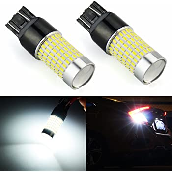 JDM ASTAR Extremely Bright 144-EX Chipsets 7440 7441 7443 7444 992 White LED Bulbs with Projector For Backup Reverse Lights