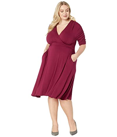 Kiyonna Gabriella Dress (Bordeaux) Women