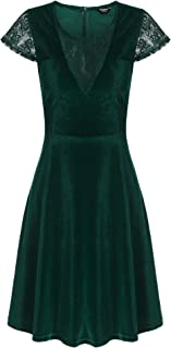 Best stretch velvet skater dress Reviews