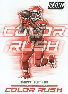 2018 Score Football Color Rush #2 Kareem Hunt Kansas City Chiefs
