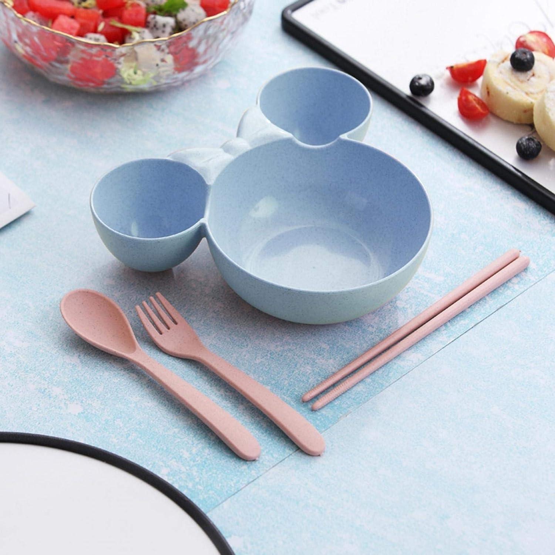 Kids Dinnerware Weekly update Set Food Plate specialty shop Bowl Easy To Cute Cartoon Clean