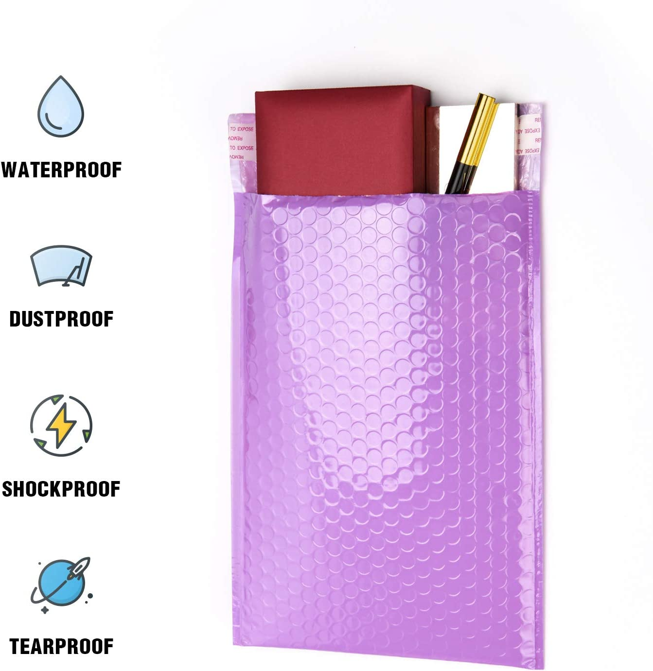 Packapro 127 x 175 mm Bubble Mailers Pink