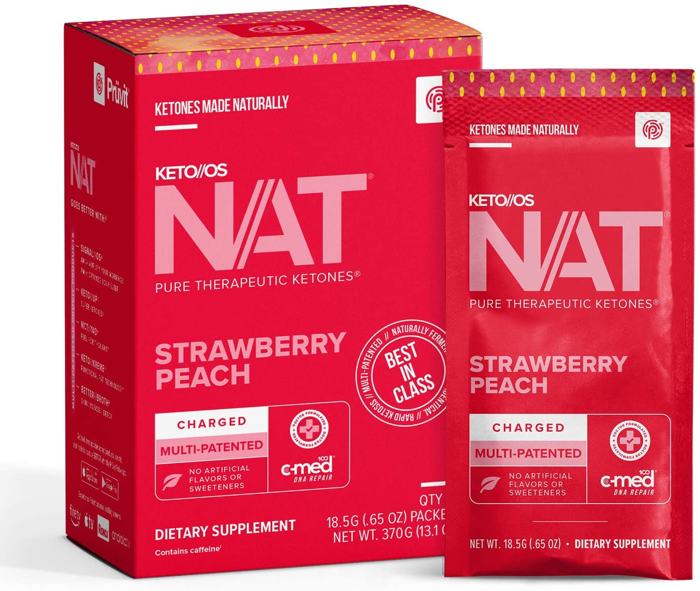 Keto OS NAT® Strawberry Peach Supplements gift – Online limited product Charge