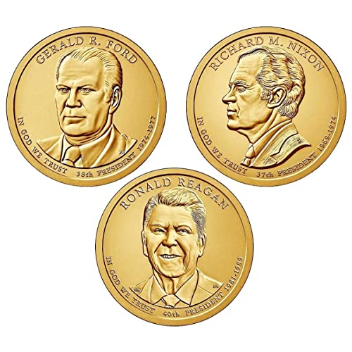 US Presidential One Dollar coin complete set in new Dansco 7184 All 78 P/&D