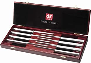J.A. Henckels 8-Piece Stainless-Steel Steak Knife Set in Wood Gift Box