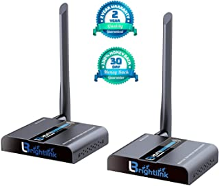 Brightlink New 50 M./ 164 Ft. HDMI Wireless Extender with Full HD 1080P @60Hz, Wide Band IR Passback & 5GHz Low Interference Frequency Range (Model # BL-WL-EXT 50)