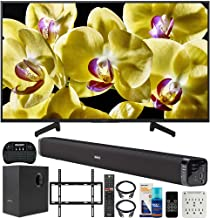 Sony XBR-43X800G 43-inch 4K UHD LED Smart TV (2019) Bundle with Deco Gear 60W Soundbar with Subwoofer, Deco Mount Flat Wall Mount Kit, Wireless Keyboard, Screen Cleaner and 6-Outlet Surge Adapter