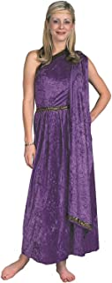 purple roman dress