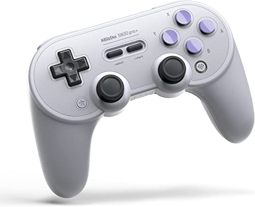 8Bitdo Sn30 Pro+ Bluetooth Controller Wireless Gamepad for Switch, PC, macOS, Android, Steam and Raspberry Pi (SN Edi...