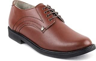 Playboy PB 2501 Leather Police Shoe Stylelish for Men's-10 Tan