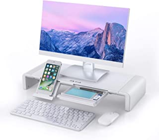 Monitor Stand Riser, Jelly Comb Foldable Computer Monitor Riser, Computer Stand with Storage Drawer, Phone Stand for Compu...
