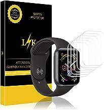 LK Protector de Pantalla para Apple Watch Series 4 / Series 5 40mm, [6 Piezas] [Sin Burbujas] HD Film Flexible Transparente para Apple Watch 40mm [garantía de reemplazo de por Vida]