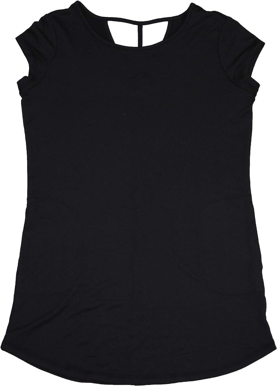Ideology Short Sleeve VBack Performance Athletic Tunic Top