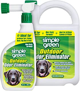 Simple Green Outdoor Odor Eliminator for Pets, Dogs, Ideal for Artificial Grass & Patio (32 oz Hose End Sprayer & 1 Gallon...