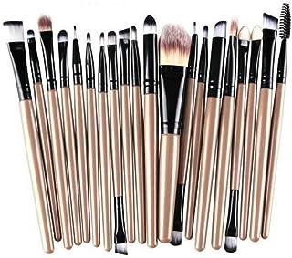 Bullidea 20 pcs Makeup Brushes Set Eyeshadow Face Eye Lip Eyeshadow Eyeliner Eyebrow Foundation Blush Blending Concealer P...