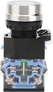 Tryckknappsomkopplare, momentär tryckknappsbrytare utan ljusstyrningskomponent 22 mm installationsdiameter GQ38 AC220 V (s...