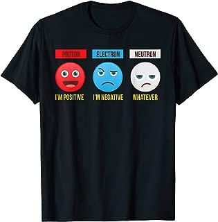 Proton Electron Neutron Positive Negative Whatever Science T-Shirt