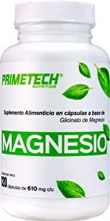 Bisglicinato de magnesio 120 caps de 610 mg c/u