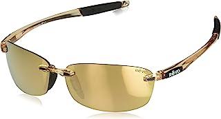 Revo Descend E Polarized Rimless Sunglasses, Blush Frame, Champagne Lens