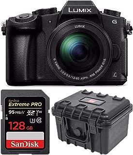 PANASONIC LUMIX G85 4K Mirrorless Camera with 12-60mm Power + SanDisk 128GB Extreme PRO & Waterproof Hardcase