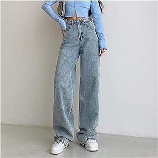QXXKJDS Women S Fashion Jeans Mom High Waist Straight Loose Denim Pant For Female Harajuku Streetwear Vintage Clothes Summ...