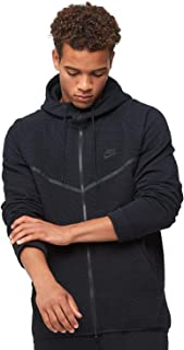 Mens Tech Fleece Icon Textured Full Zip Windrunner Jacket Black/Black 929121-010 Size Small