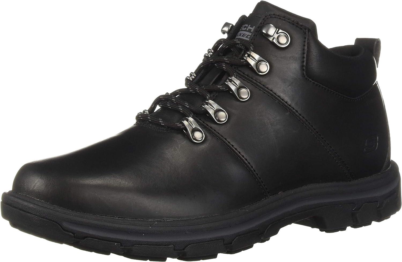 Skechers Hommes's SegHommest-VENARO Ankle démarrage, noir, 8.5 Medium US