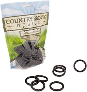 10 - Country Brook Design - 1 Inch Black Powder Coated Welded Heavy O-Rings