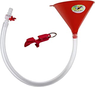 Beer Bong Funnel with Valve - USA Made Extra Long 2.5 feet (30 inch) Kink Free Tube - Shotgun Keychain Tool Bottle Opener...