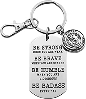 United States Air Force Keychain. Be Strong, Be Brave, Be Humble, Be Badass Every day. Air Force Grad. Air Force Key Chain Gift