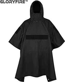 GLORYFIRE Poncho Tactical Poncho Tactical Ripstop Raincoat Multi-use for Camping Hiking Climbing Backpacking Military Surplus Emergency Poncho Blanket Patrol Poncho