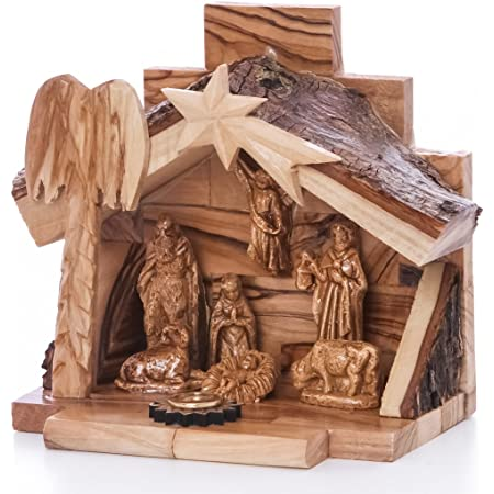 Olive Wood Tabletop Nativity Scene Creche Fair Trade /& Handmade From The Earth