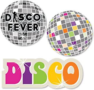 Big Dot of Happiness 70's Disco - DIY Shaped 1970's Disco Fever Party Cut-Outs - 24 Count