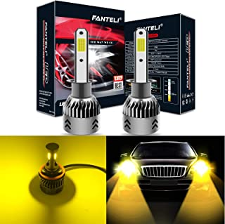 FANTELI H1 3000K Yellow LED Headlight Bulbs All-in-One Conversion Kit - 72W 8000LM High Beam/Low Beam/Fog Lights Extremely Bright
