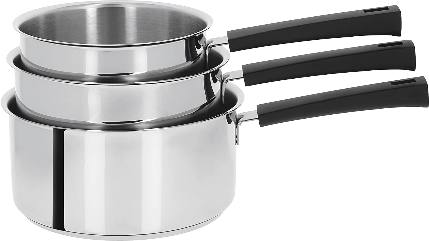 Cristel - C14MN- Casserole inox 14cm Collection Mutine Noir