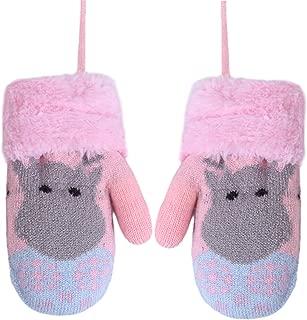warm 1 Paar Winterhandschuhe f/ür Babys Jungen Sternbommel M/ädchen gestrickt zuf/ällige Farbe fingerlos