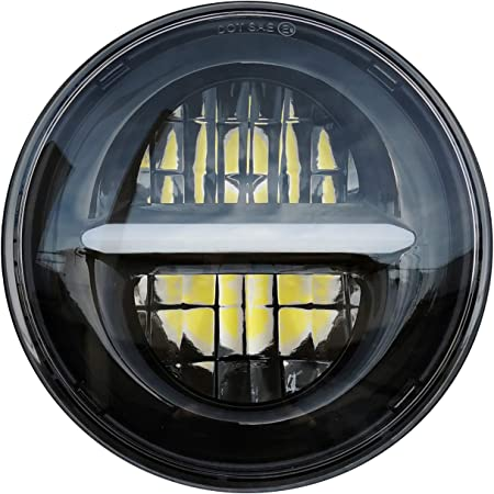 H4 Motorrad Scheinwerfer Bates Style Bm 5 3 4 Zoll Mit Unterer Halterung Schwarz Klar Glas E Geprüft Universal Auto