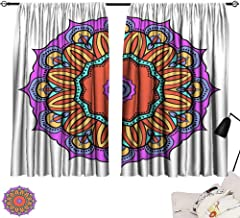 SINXY&CASE Blue Curtains Flower Mandala Printable Package Decorative Elements Coloring Page Template It is Vector Illustrations 72