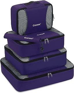 Gonex Packing Cubes Travel Luggage Organizer with Shoe Bag (Purple)