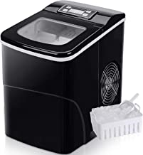 Machine à glaçons FOOING Ice Maker Machine à glaçons Comptoir prêt en 6 minutes Machine à glaçons 2L avec cuillère à glace...