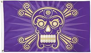 WinCraft Orlando City Soccer Club Flag 3x5 MLS Purple Skull and Crossbones