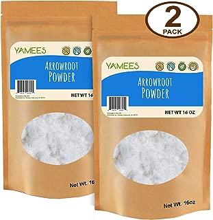 Yamees Arrowroot Powder – Arrowroot Flour – Arrowroot Starch – Bulk Spices – 2 Pack of 16 Ounce Bags