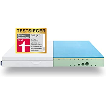 EMMA One Matratze TESTSIEGER Stiftung Warentest 10/2019 - Liegegefühl Hart - 90x200 cm, 7 Zonen Matratze Visco-Schaum - atmungsaktiv - Öko Tex Zertifiziert - Entwickelt in Deutschland