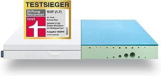 EMMA One Matratze TESTSIEGER 2019 - Stiftung Warentest 10/2019-7 Zonen HRX-Schaum Matratze - 90x200 cm, Liegegefühl Hart - Entwickelt in Deutschland