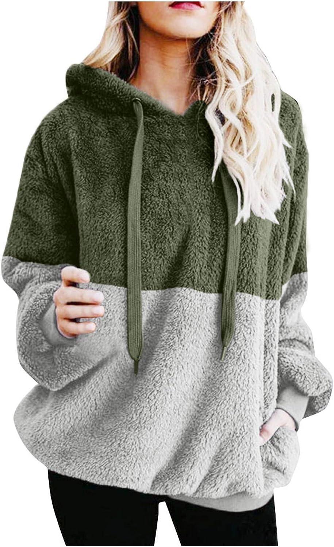 Hotkey Womens Weekly update free shipping Fashion Hoodies Long Pocket Hooded Sweatshi Sleeve